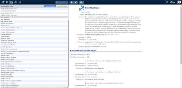 4me Service Catalog
